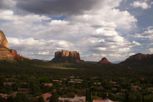 Courthouse Butte and Bell Rock from Chapel of the Holy Cross.
