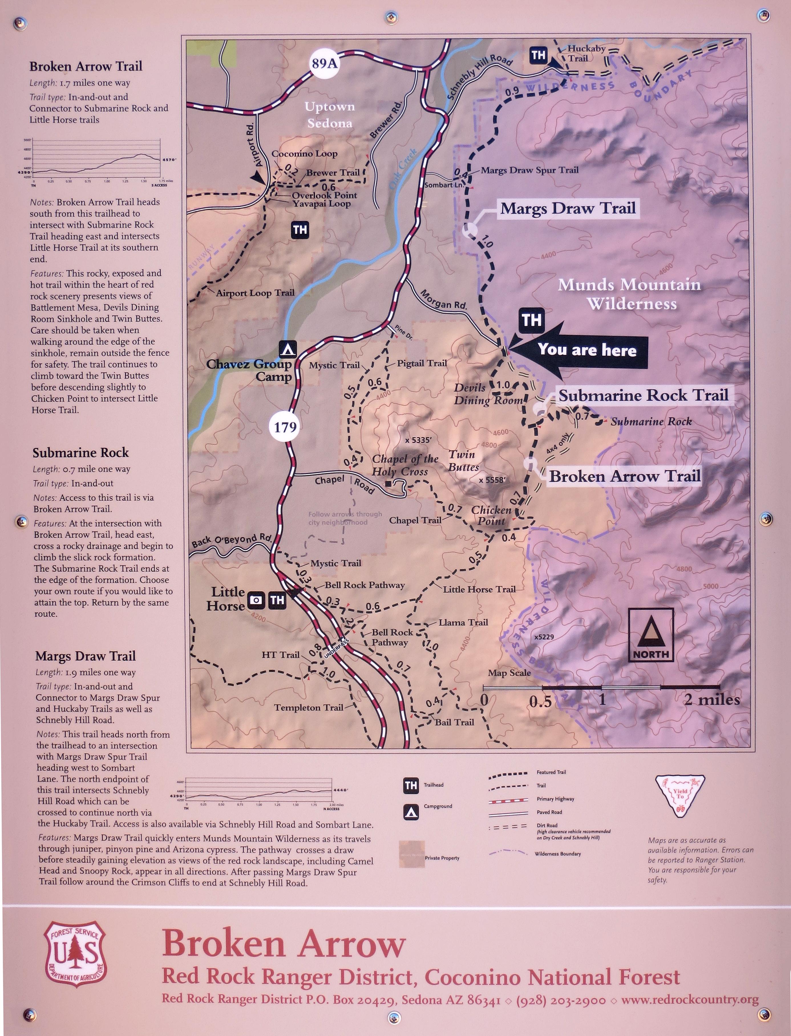 Broken Arrow Trail Map