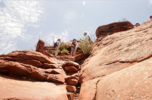 Second Plateau of the Steep Part of Cathedrial Trail, Sedona Arizona