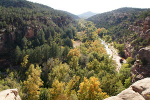 View Down Oak Creek Canyon