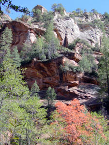West Fork Trail View of Rock Formation